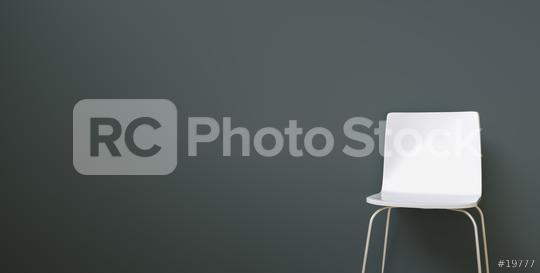 white chair in a waiting room in front of a grey wall, with copy space for individual text   : Stock Photo or Stock Video Download rcfotostock photos, images and assets rcfotostock | RC-Photo-Stock.: