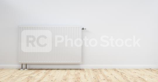 White radiator in an apartment, including copy space - 3D Rendering  : Stock Photo or Stock Video Download rcfotostock photos, images and assets rcfotostock   RC-Photo-Stock.: