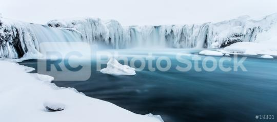 Winter am Godafoss, Eis, Schnee, Island  : Stock Photo or Stock Video Download rcfotostock photos, images and assets rcfotostock | RC-Photo-Stock.: