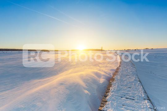 Wintry Sunset in the Hautes Fagnes  : Stock Photo or Stock Video Download rcfotostock photos, images and assets rcfotostock | RC-Photo-Stock.: