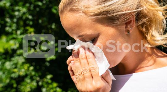 Woman with a cold sneezing from coronavirus 2019-ncov flu outbreak. Dangerous asian ncov corona virus, SARS pandemic risk concept image  : Stock Photo or Stock Video Download rcfotostock photos, images and assets rcfotostock | RC-Photo-Stock.: