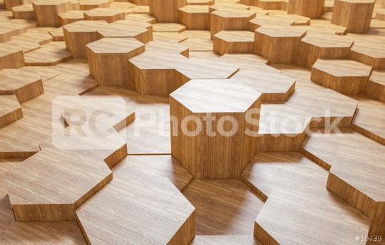 wooden hexagonal background - 3D Rendering  : Stock Photo or Stock Video Download rcfotostock photos, images and assets rcfotostock | RC-Photo-Stock.:
